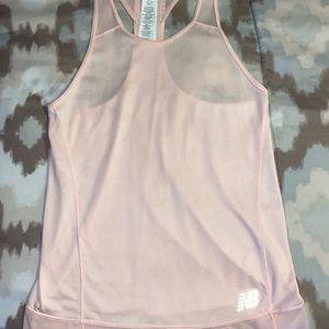 Pink racer back dry fit workout top